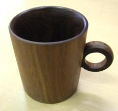 道産エンジュ材のマグカップ板
